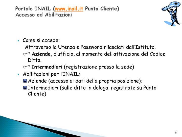 Portale INAIL (