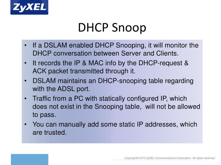 DHCP Snoop