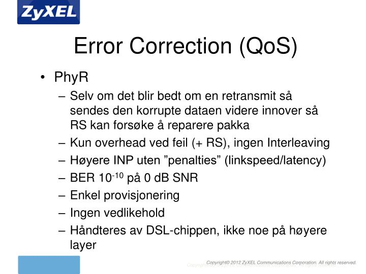 Error Correction (QoS)