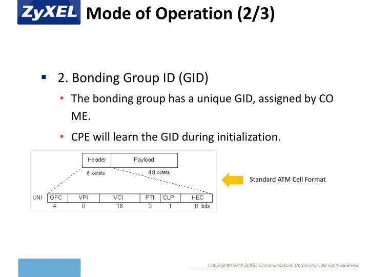 Mode of Operation (2/3)