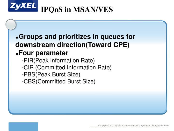 IPQoS in MSAN/VES