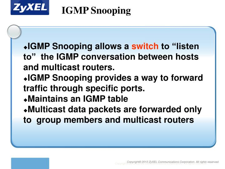 IGMP Snooping