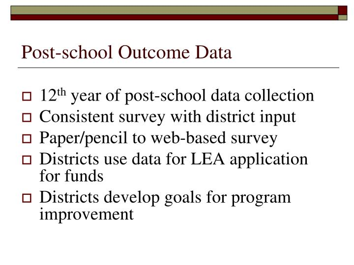 Post-school Outcome Data
