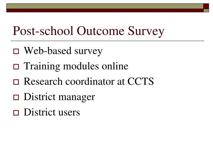 Post-school Outcome Survey