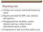 reporting data1