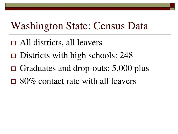 Washington State: Census Data