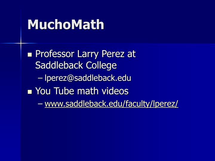 MuchoMath