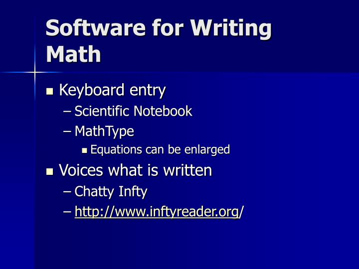 Software for Writing Math