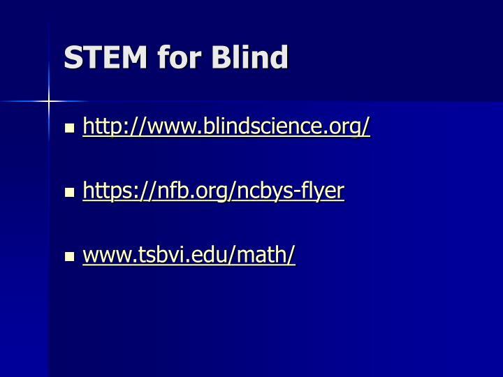 STEM for Blind