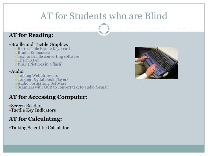 AT for Students who are Blind