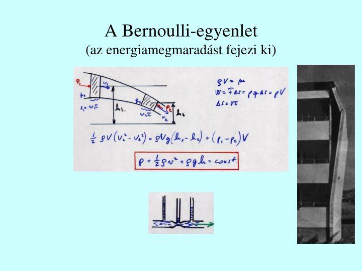 A Bernoulli-egyenlet