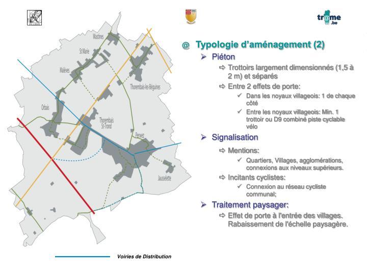 Typologie d'aménagement (2)
