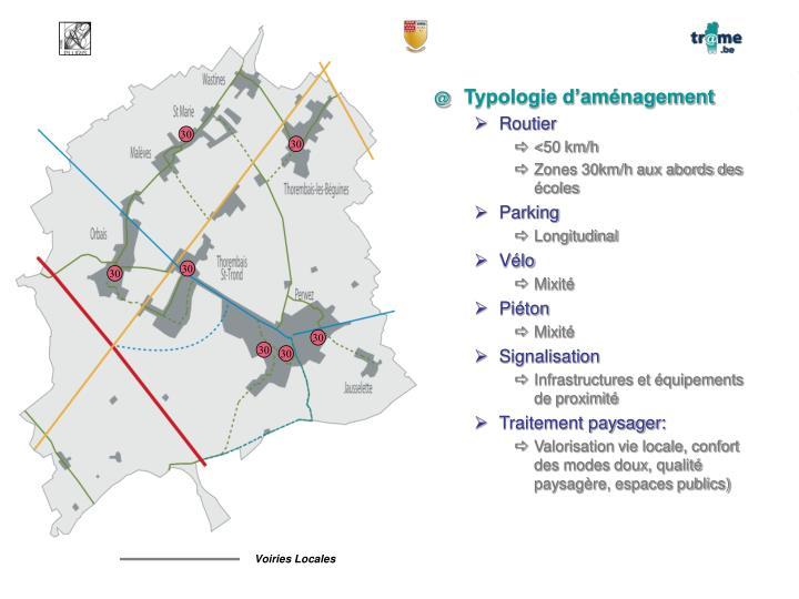 Typologie d'aménagement