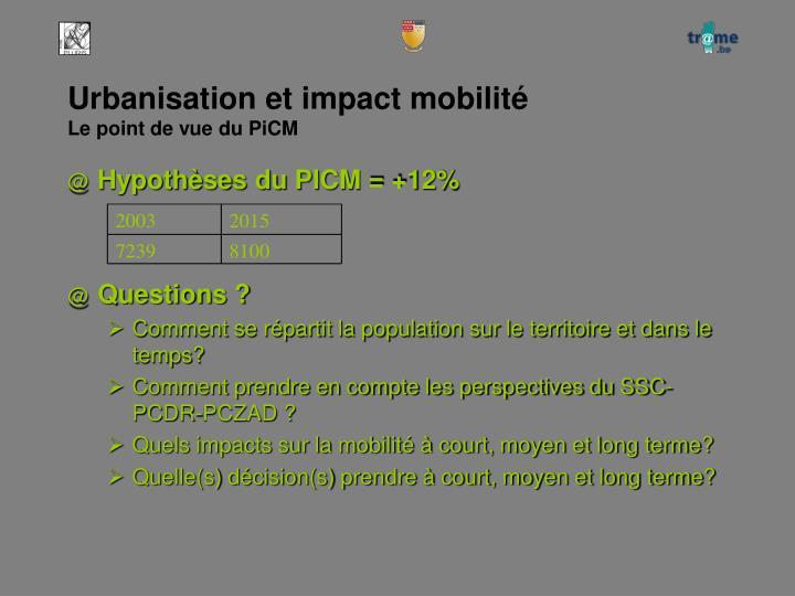 Urbanisation et impact mobilité