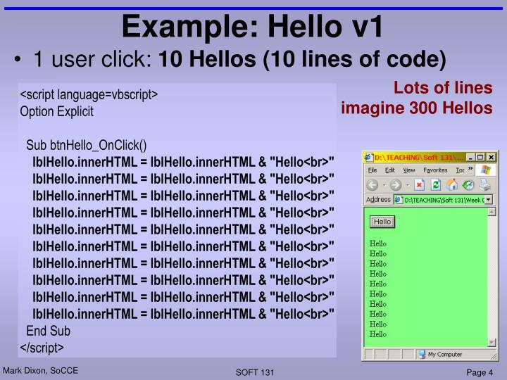 Example: Hello v1