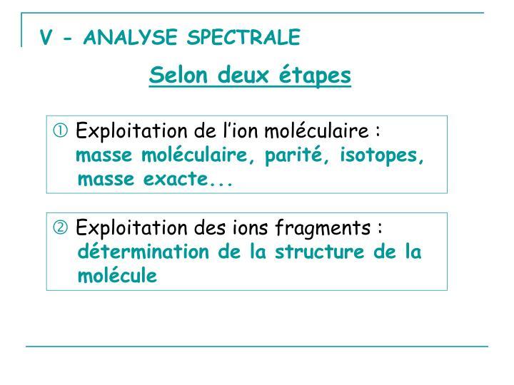 V - ANALYSE SPECTRALE