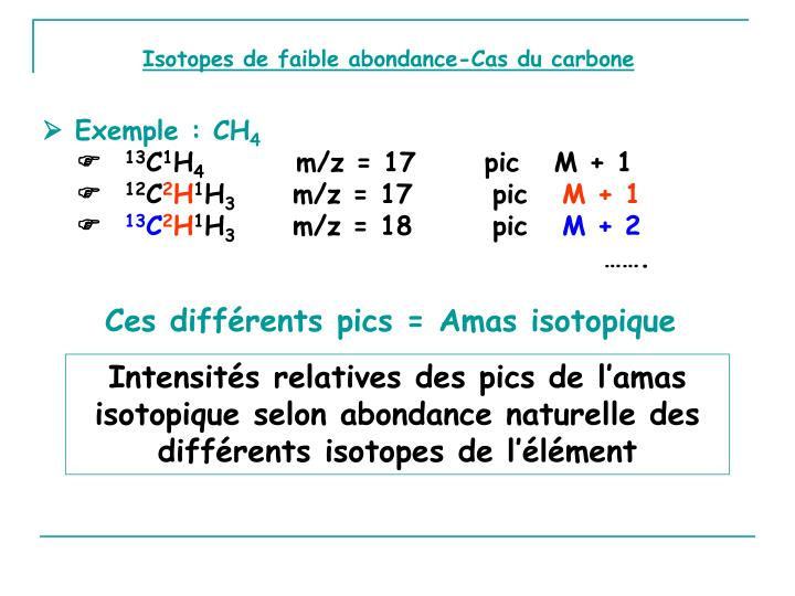 Isotopes de faible abondance-Cas du carbone