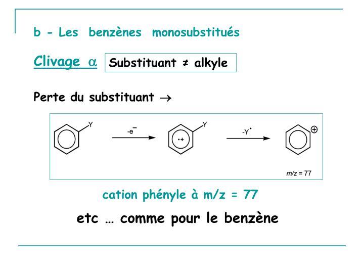 b - Les  benzènes  monosubstitués