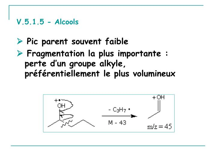 V.5.1.5 - Alcools