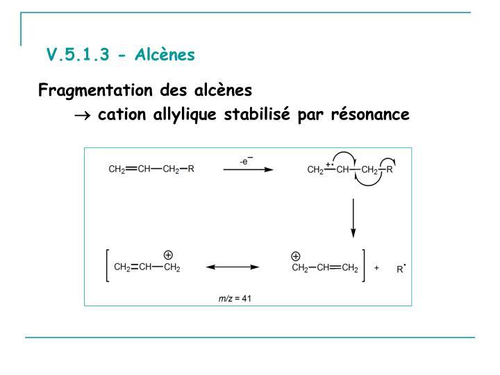 V.5.1.3 - Alcènes