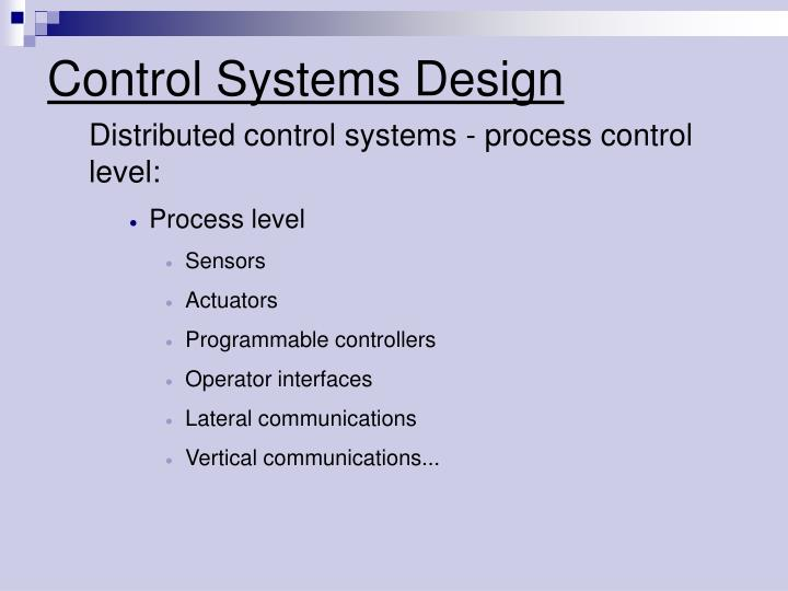 Control systems design1