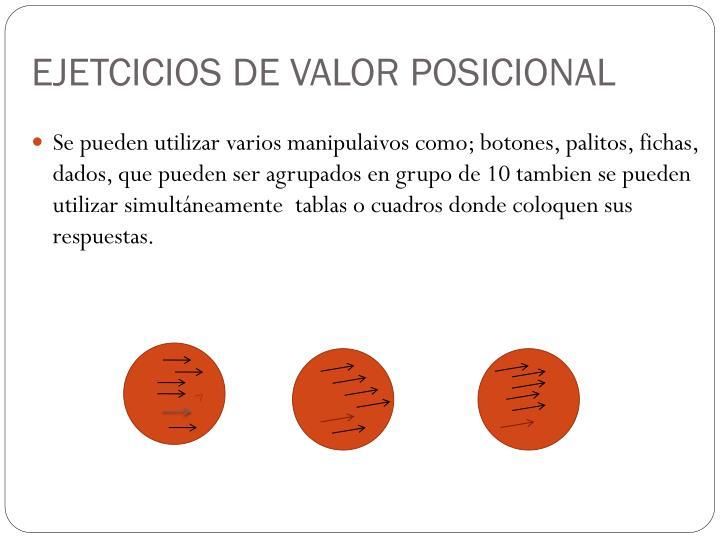 EJETCICIOS DE VALOR POSICIONAL
