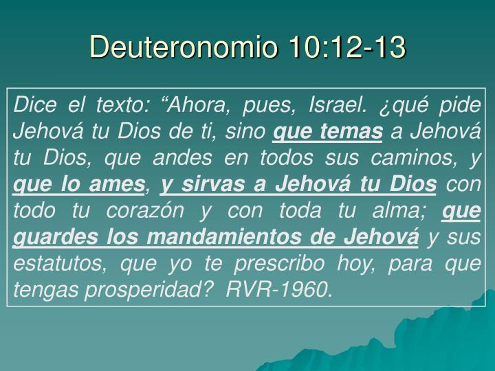 Deuteronomio 10:12-13
