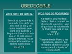 obedecerle