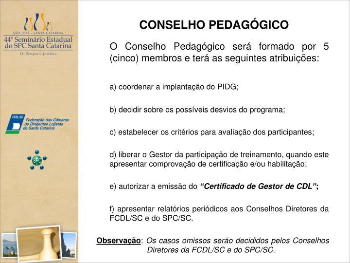 CONSELHO PEDAGÓGICO
