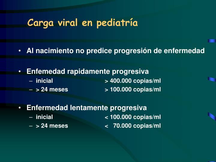 Carga viral en pediatría