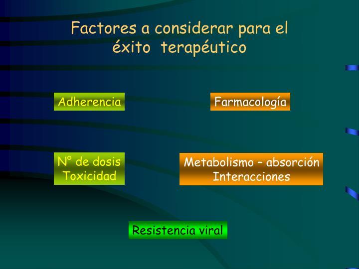 Factores a considerar para el