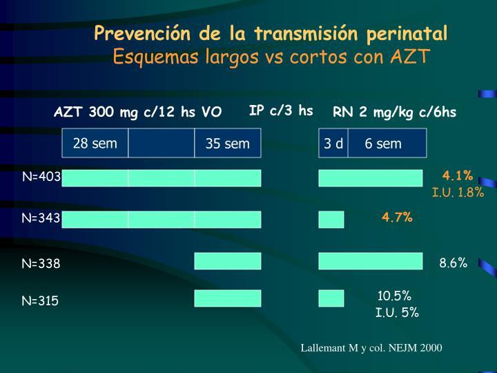 Prevención de la transmisión perinatal