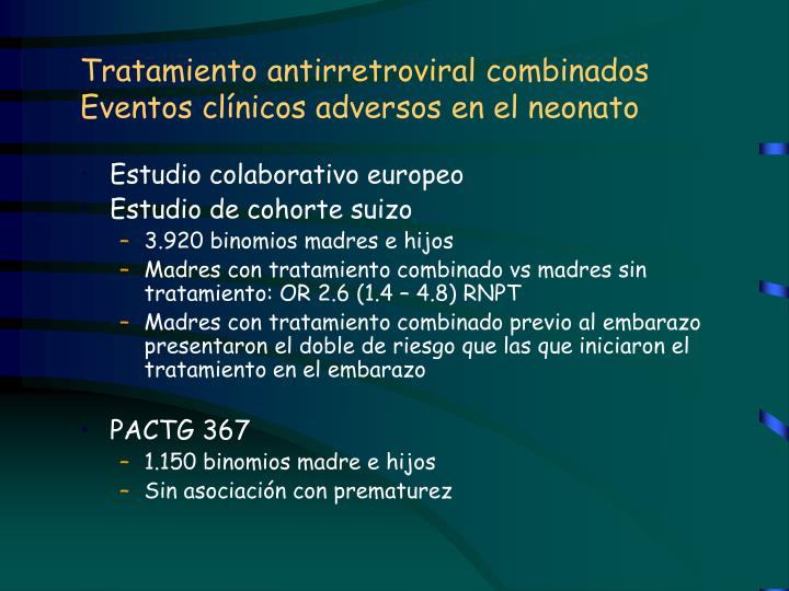 Tratamiento antirretroviral combinados