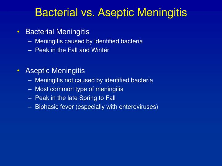 Bacterial vs. Aseptic Meningitis