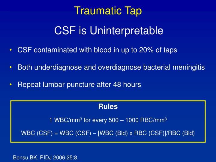 Traumatic Tap