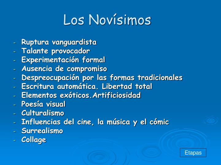 Los Novísimos