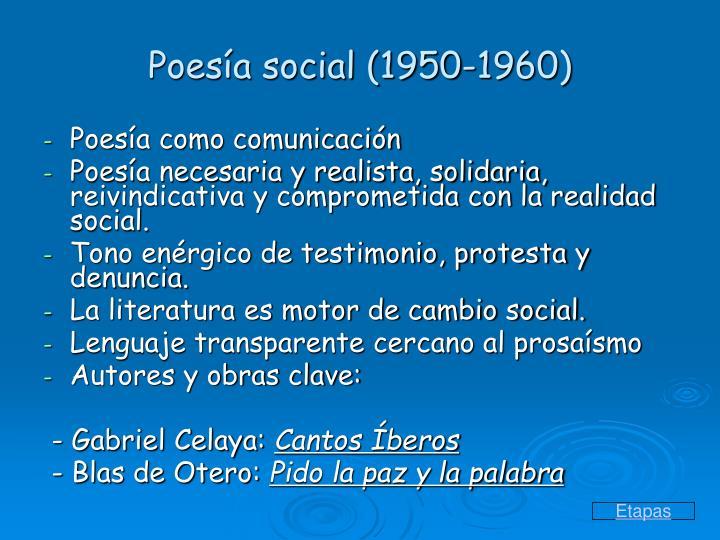 Poesía social (1950-1960)