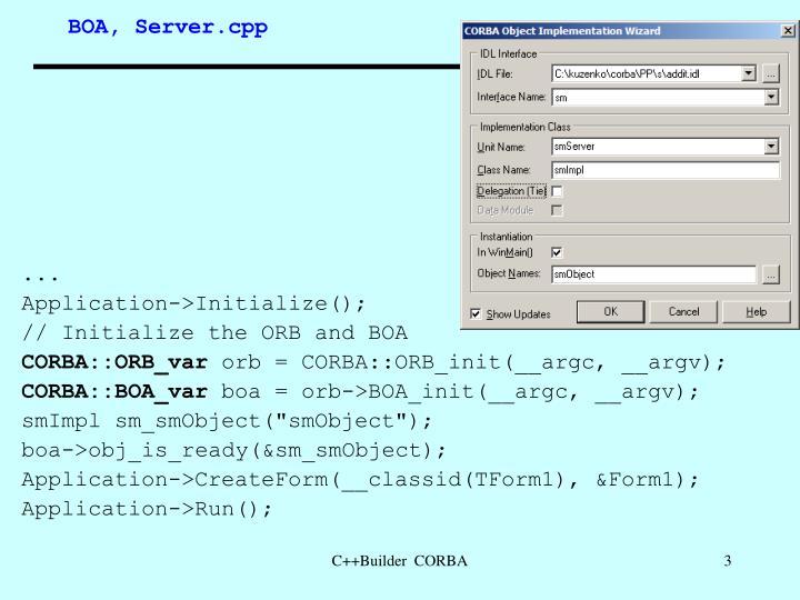 BOA, Server.cpp