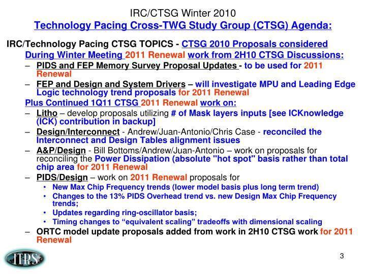 IRC/CTSG Winter 2010