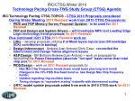 irc ctsg winter 2010 technology pacing cross twg study group ctsg agenda