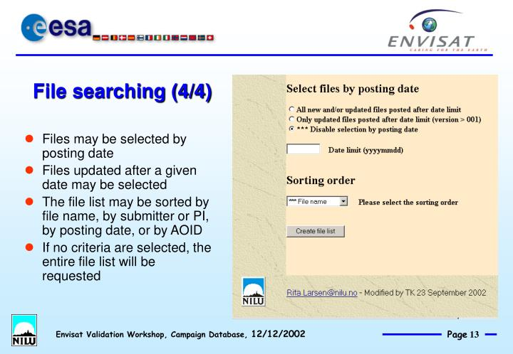 File searching (4/4)