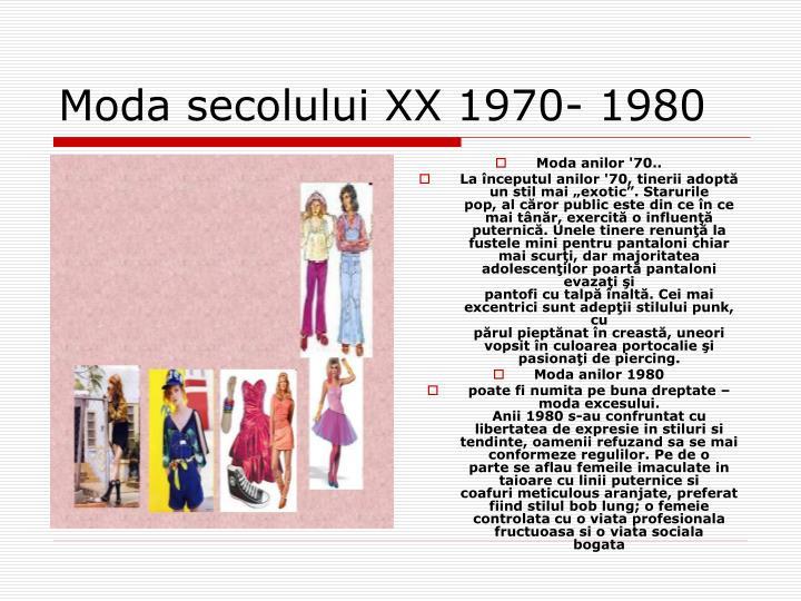 Moda anilor '70..