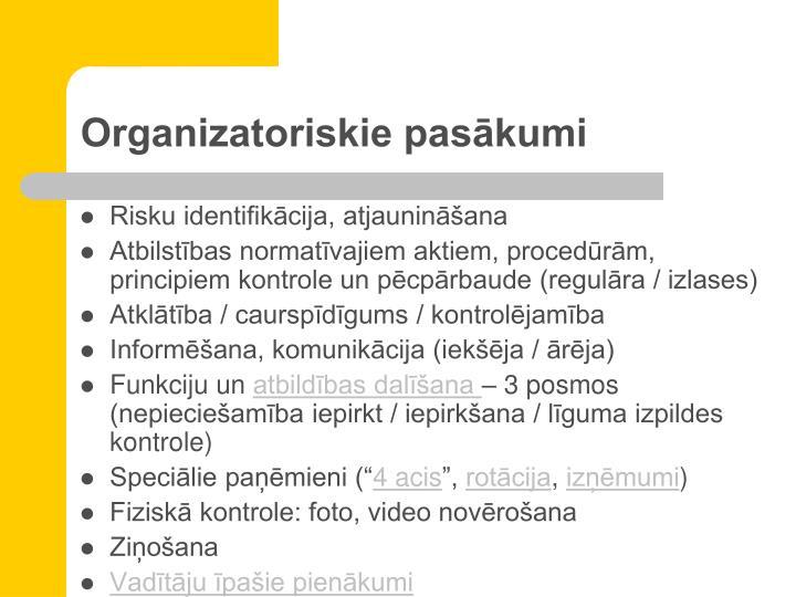 Organizatoriskie pasākumi