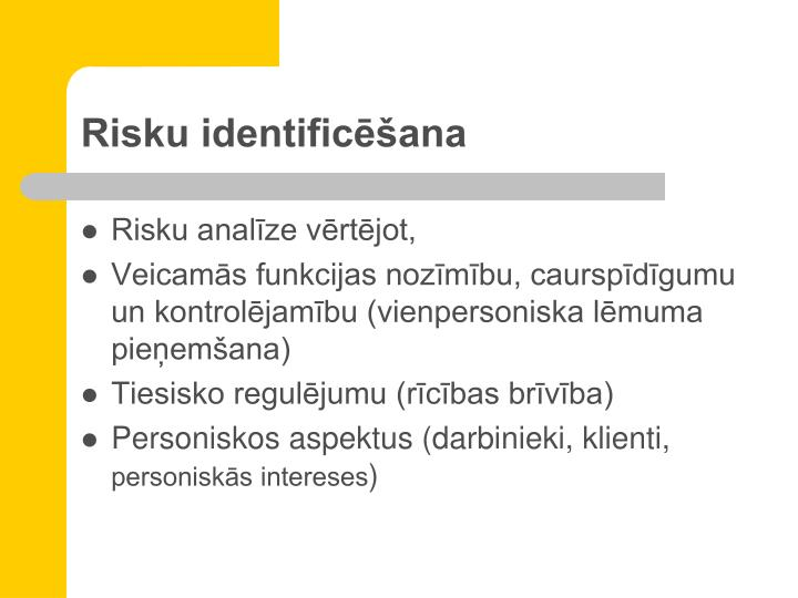 Risku identificēšana