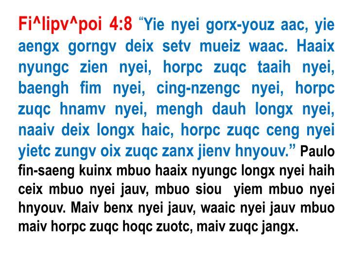 Fi^lipv^poi 4:8