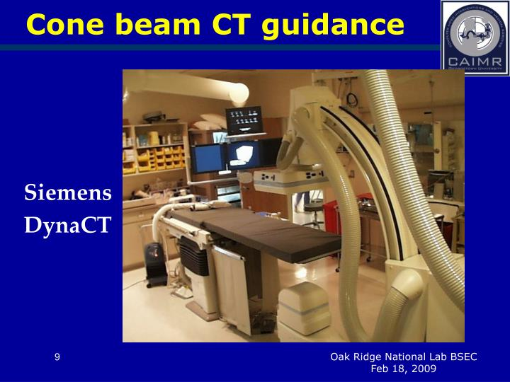 Cone beam CT guidance