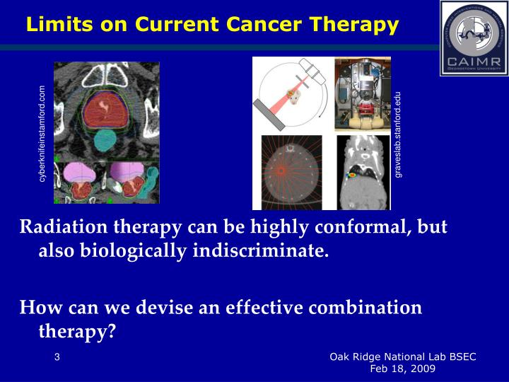 Limits on current cancer therapy1