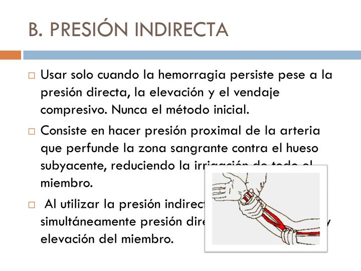 B. PRESIÓN INDIRECTA