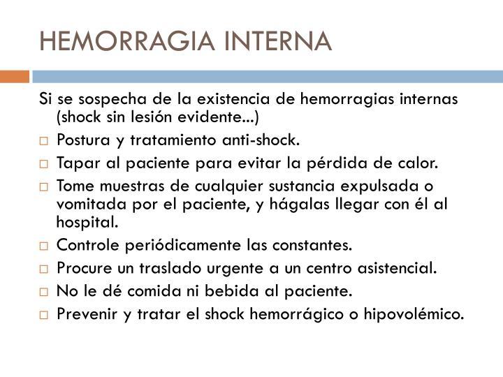 HEMORRAGIA INTERNA
