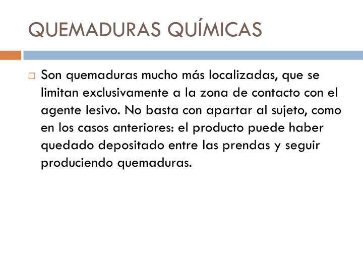 QUEMADURAS QUÍMICAS